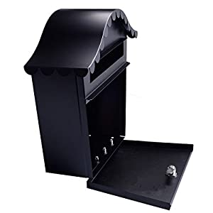 http://www.ebay.com/itm/Wall-Mount-Black-Mail-Box-w-Retrieval-Door-2-Keys-Steel-MailBox-New-/201811346905
