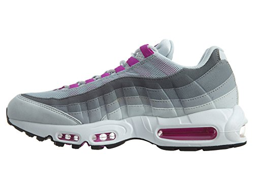 Nike Air Max 95 Running Formateurs 307960 Chaussures De Tennis Pur Platine / Hyper Violet