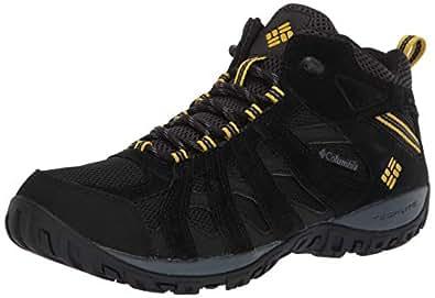 Columbia Men's Redmond MID Waterproof Hiking Boot, Black, Antique Moss, 7 Regular US