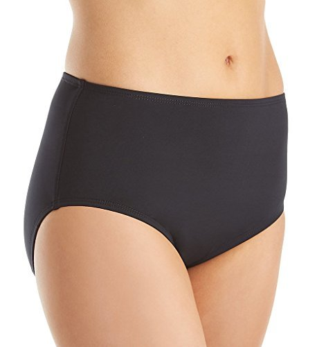 (Jantzen Women's Solid Comfort Core Bikini Bottom, Black, 6)