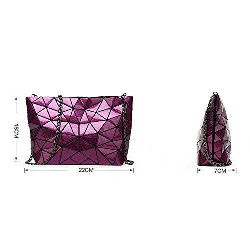 Sac Paquet Beige De En Cuir Géométrique Nouveau Diagonale Femme Épaule Féminin Pliable Main Chaîne Rhombique Verni Irrégulier À pUUqdZ6