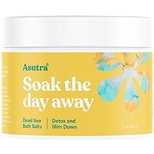 Best Epic Trends 41fVzEgkUAL._SS300_ ASUTRA Dead Sea Bath Salts (Detox & Slim Down), 16 oz   Cleanse, Purify & Fight Cellulite   Soak in Rich & Vital Healing…