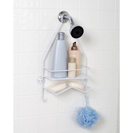 (Mainstays Over-the-Shower Caddy, White)