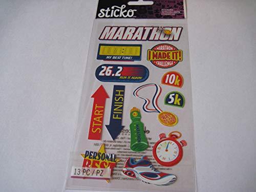 Sticker Scrapbooking Sticko Running Marathon Shoe Start Finish Stop Watch More