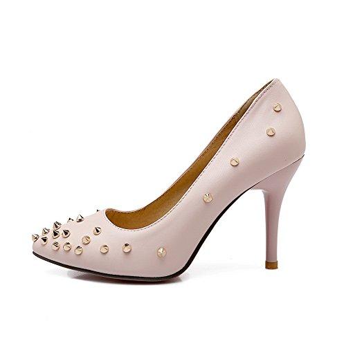 Balamasa Meisjes Bezaaid Klinknagel Geïmiteerd Lederen Pumps-schoenen Lightpink
