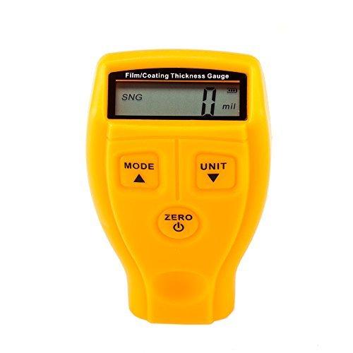 Mopei Digital Revestimiento de Pintura Medidor de Espesor, 0 ~ 1.80mm / 0 ~ 71.0 mil Medidor de Espesores de Pintura del Probador del Metro del Coche - Coating Paint Thickness Gauge Meter Tester FTRFILMGAUGE