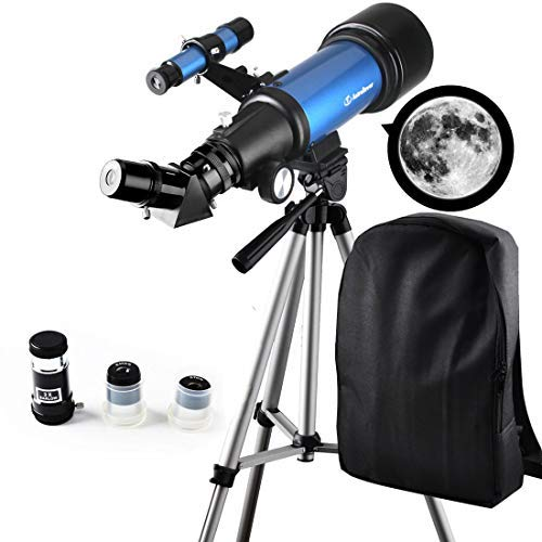 Moutec Telescope for Kids Beginners - Travel Scope 70mm Apeture Portable Telescope for Early Development Science with Backpack for Travel Carry Easily by Moutec