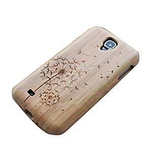 DUR Dandelion Bamboo Wood Dark Bamboo Protective Case Cover for Samsung Galaxy S4 i9500