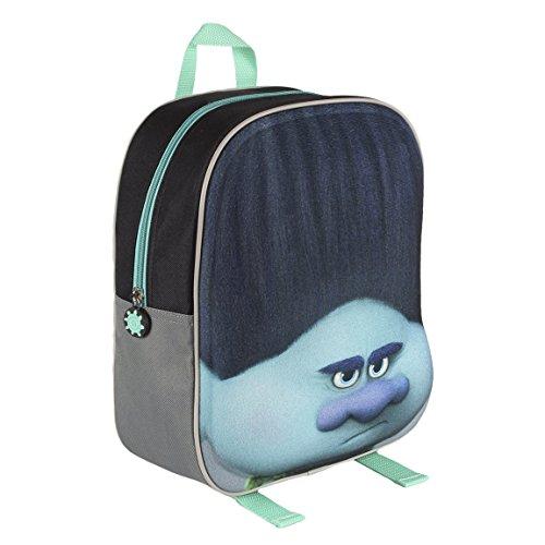 Trolls 2100001572 31 cm 3D Effect Face Branch Blue Junior Backpack -