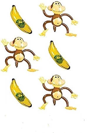 Amazon.com: Monkey & plátano se infla ~ (6pc) Conjunto ...