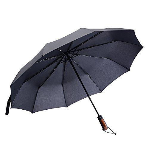 olf Umbrella 3-fold Automatic Super Windproof Rain Resistant (68 Inch Fiberglass Shaft Umbrella)