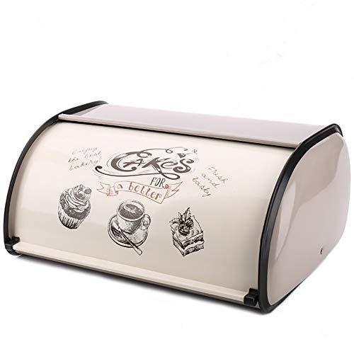 PENGKE Stainless Steel Bread Box for Kitchen,Metal Bread Bin,Bread Storage Bread Holder for Counter,12.6 x8.7×5.5inch…