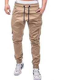 Men's Sweatpants with Pockets Elastic Bottom Classic Joggers Drawstring Pants Trousers