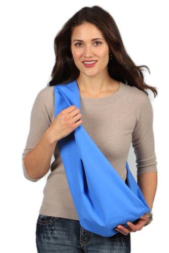 HugaMonkey Outdoor Travel Soft Cotton Durable Pet Sling Carrier for Dog Cat, Blue - ()