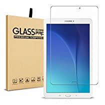 Samsung Galaxy Tab E 9.6 Screen Protector, Pasonomi [9H Hardness] [Crystal Clear] [Scratch-Resistant] Premium Tempered Glass Screen Protector Film for Samsung Galaxy Tab 9.6 (Clear)