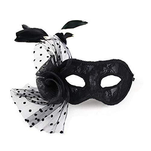 AmaGood Fancy Mask Womens Masquerade Mask Black