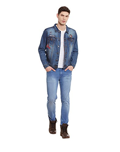 Yepme - Graham - Veste en jean à lavage moyen - Bleu