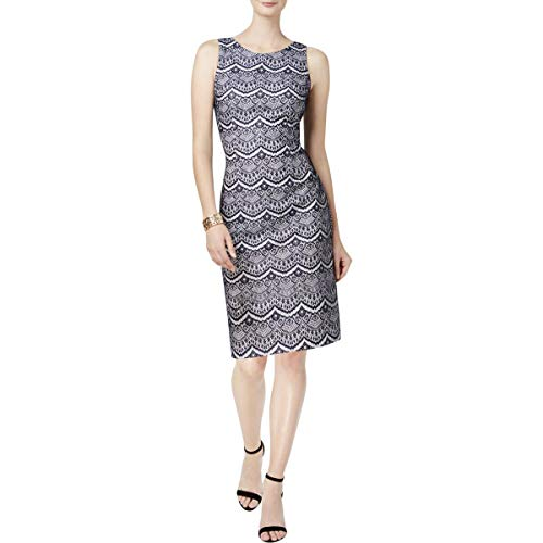 Jessica Simpson Women's Bonded Lace Dress, Navy/White, 4 by Jessica Simpson