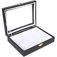 Insect Display Case - Bug Display Box with Glass Window and Secure - Riker Mount for Insect Collecting, 8 x 1.8 x 6 Inches