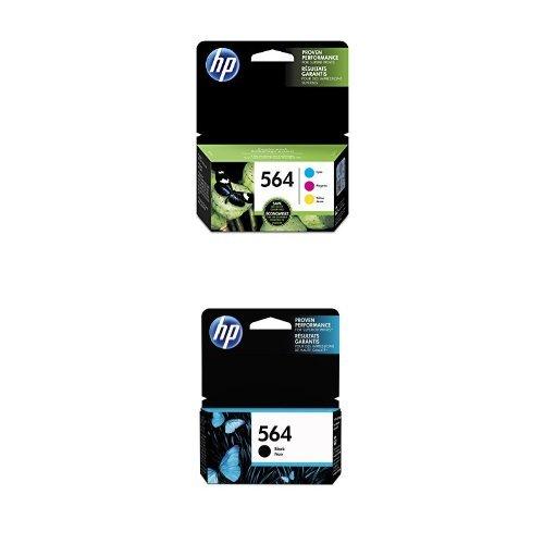 HP 564 Cyan, Magenta & Yellow Original Ink Cartridges, 3 ...