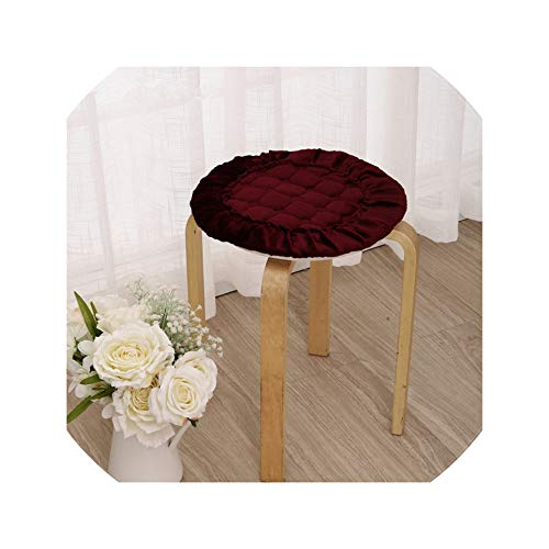 Flannel Round Dining Chair Cushions Mat,5 Sizes Floor Cushion Seat Mat Pad, Chair Cushions Sofa Mat,Jiuhongse,Diameter About 30Cm