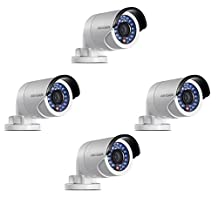 Hikvision DS-2CD2042WD-I 4MP IR Bullet Network Mini IP Camera PoE ONVIF English Version Support Upgrade Firmware 4mm Fixed Lens(4 pieces)