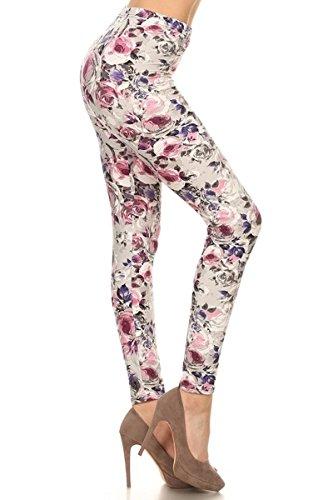 R662-OS Cherish Rose Print Fashion Leggings