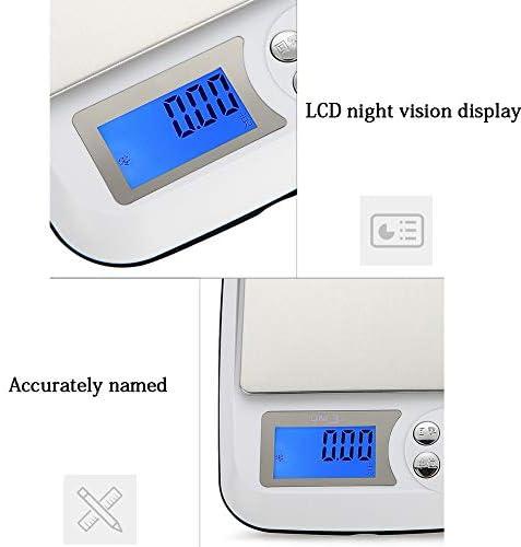 Digital Kitchen Bilance, Bilance digitali tascabili, con Schermo LCD HD, 4 Tasti di Funzione, Clear pelati, PCS Funzione di conteggio, 2 batterie AA,2KG/0.1G