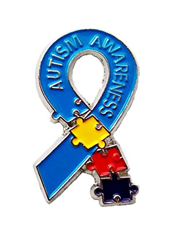 Autism Awareness New This Year Puzzle Pieces Lapel Hat Pins PPM7308 (3 Pins)]()