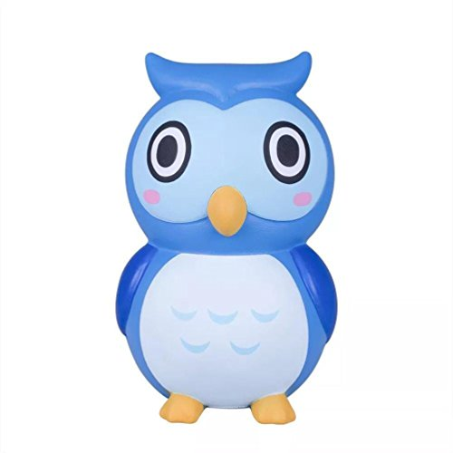 Makeupstore animals Stress Relief Extrusion Toys, squishy charm Adorable Owl Slow Rising Collection Squeeze Stress Reliever Toy Stress Relief Extrusion Toys for Kids and Adults (Blue) (Owl Doll Kachina)