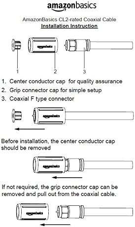 AmazonBasics - Cable coaxial con clasificación CL2: Amazon.es: Electrónica