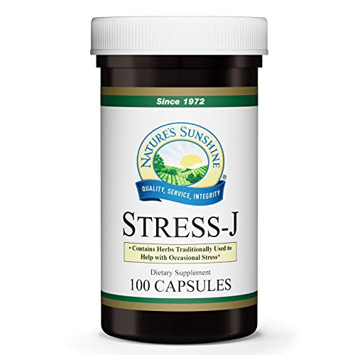 Natures Sunshine Stress-J, 100 Capsules, This Natural Stress Relief Formula Promotes Feelings of Calm and Helps with Occasional Stress