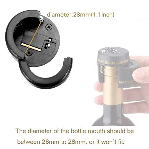 (3 pcs) Combination Locks for Wine & Liquor Bottle-Wine Whiskey Bottle Top Stopper - Bottle Password Code Lock (Diameter of the bottle mouth should be between 26mm to 28mm)