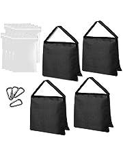 Emart Heavy Duty Sandbag Photo Studio Weight Bag Saddlebag Design for Photography Stand Light Stand Tripod, Outdoor Patio, Sports, Photo Sets, Film Sets, Live Productions-4 Packs Set