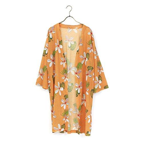 (ファッションレター)FashionLetter 花柄 UVカット カーディガン 薄手 レディース ロングカーディガン f321