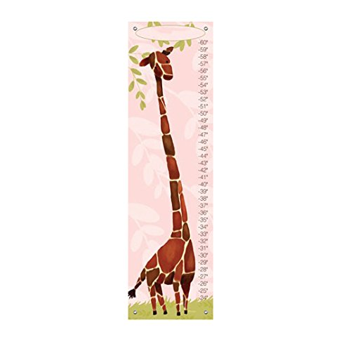 Oopsy Daisy Gillespie The Giraffe Growth Chart, Pink (Gillespie Giraffe Growth Chart)