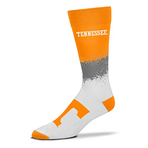 For Bare Feet NCAA Marquee Crew Socks- Size -Large(10-13) (Tennessee Vols)