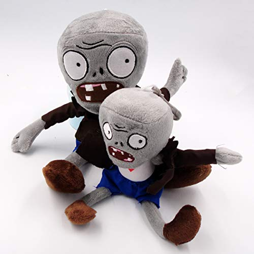 TavasHome Plants VS Zombies 2 PVZ Figures Plush Toys Set,Stuffed Soft Game Doll - Zombie and A Baby Zombie -