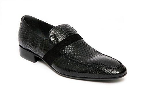 Giovanni Conti Conti 2204-01 Svart Ormskinn Loafer.
