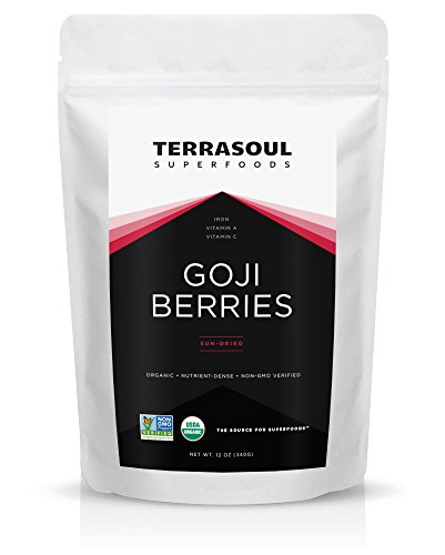 Terrasoul Superfoods Organic Goji Berries (Organic), 12-ounce