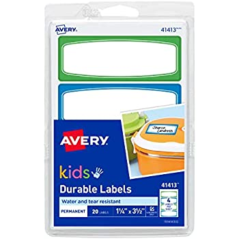 Amazon Com Avery 1 25 X 3 5 Inches Durable Labels For