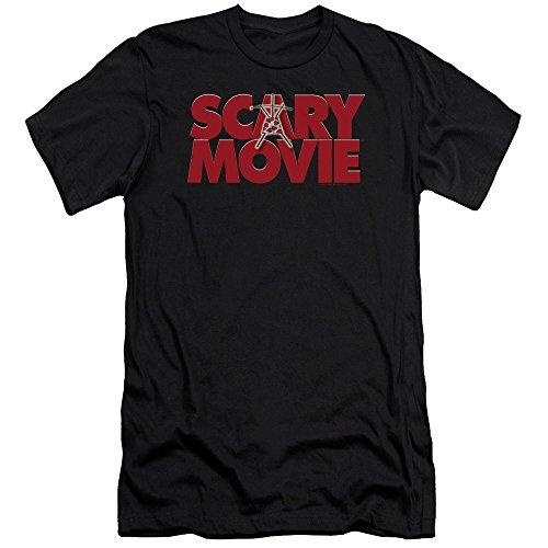 Scary Movie Logo Slim Fit T-shirt, Black, 2XL]()