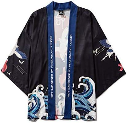 Fashion SHOP Hombres Mujeres Kimonos japoneses Ropa Kimono Cosplay Chaqueta de Punto for Hombre del Kimono Yukata étnico Vestido de Camisa de la Playa del Verano Femenino de la Blusa de los