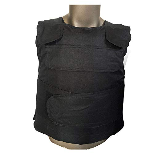 Outdoor Security Protective Vest Pockets Door Guard Security Duty Adjustable Clothing Hard Soft Stab Cut Protective Vest-Black,Black