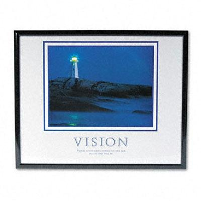 AVT78018 - Vision Lighthousequot; Framed Motivational Print ()