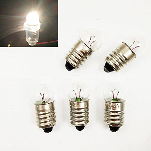 20x E10 3.8V / 0.3A Miniature Screw Base Light Bulb Lamp Flashlight Torch Work Light DIY Experiment (Mini Miniature Maglite)
