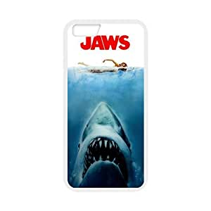 """Jaws iPhone 6 4.7"""" Case Jaws Poster Black/White Soft Case Back Covers (Laser Technology)"""