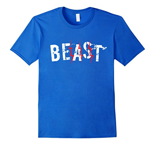 Mens Beast and Beauty Shirts Matching Couple Outfits XL Royal Blue (Couples Outfit)