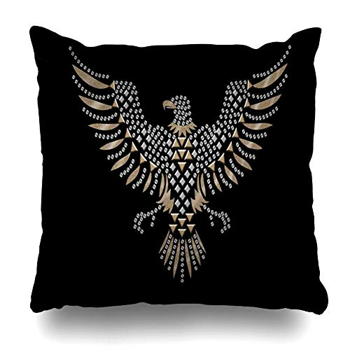 - Ahawoso Throw Pillow Cover Bird Studded Eagle for Abstract American Cool Flying Graphic Design Home Decor Pillowcase Square Size 18