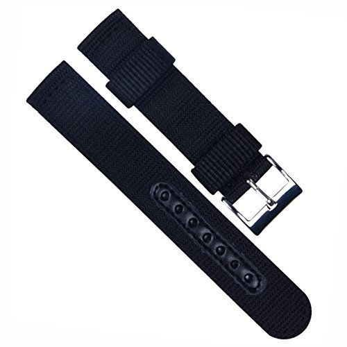 20mm-replacement-waterproof-soft-nylonleather-canvas-fabric-sport-edition-watch-strap-watch-band-bla